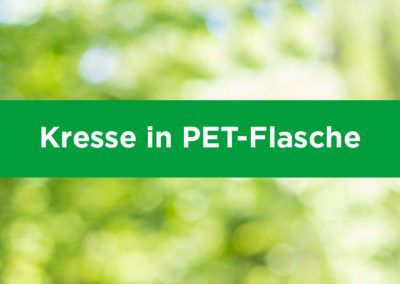 Kresse in PET-Flasche