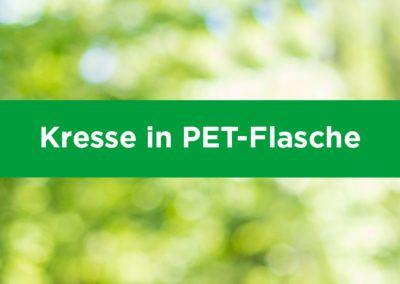 Kresse in PET-Flasche