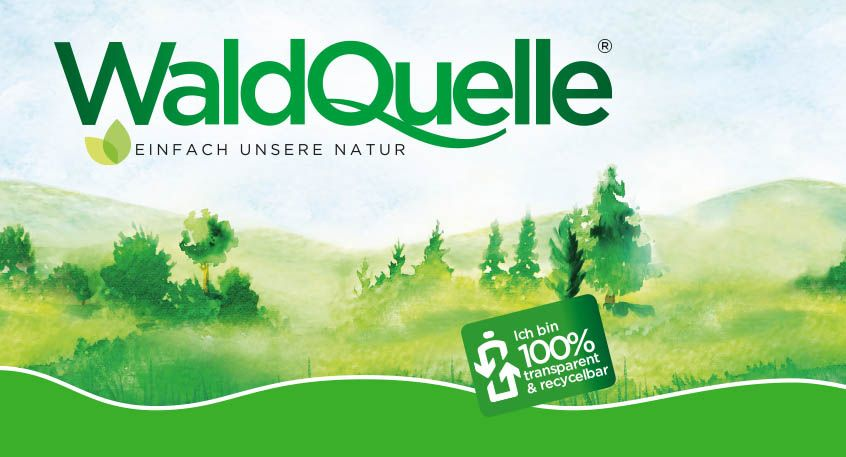 Waldquelle PET-Flaschen = 100% transparent & recycelbar