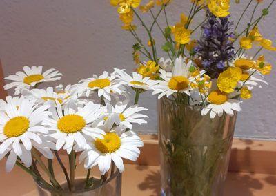 Selbst gepflückter Blumenstrauß