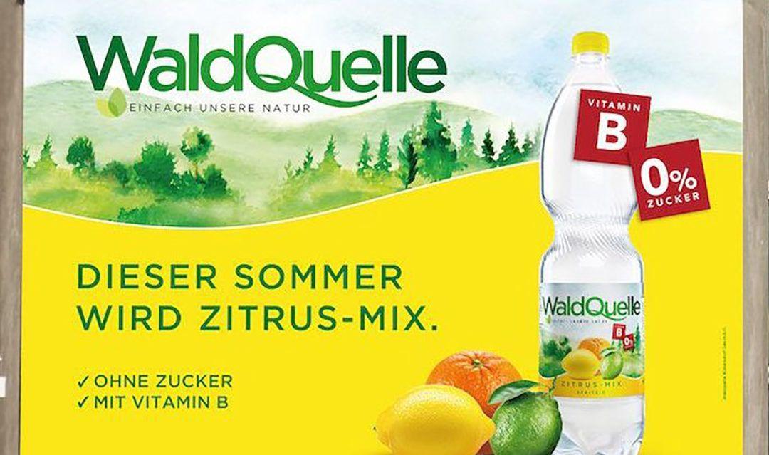 Waldquelle startet Kampagne für Zitrus-Mix