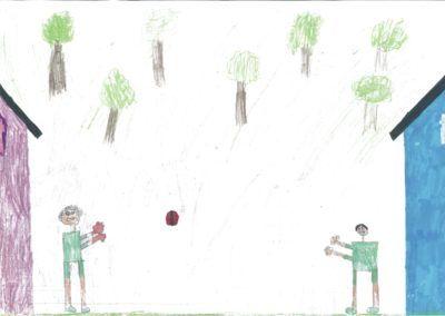 Fussballspielen zuhause