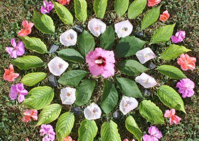 Blüten- und Blätter-Mandala