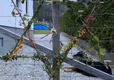 Stern aus Zweigen und Blättern
