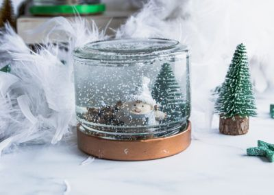 Schneekugel – Einmachglas Upcycling Idee