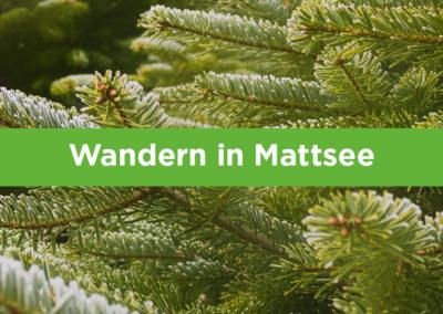 Wandern in Mattsee