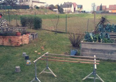Hindernisparcours im Garten