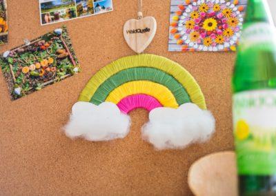 Familienbastelei: Regenbogen